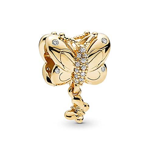 LIIHVYI Pandora Charms para Mujeres Cuentas Plata De Ley 925 Colgante De Mariposa Decorativo Shine...