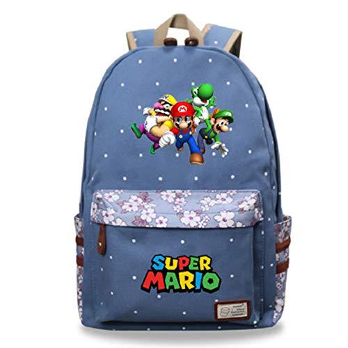 Super Mario Mochila, Mochila Super Mario Bros Niño Escolar Grande para Infantil...