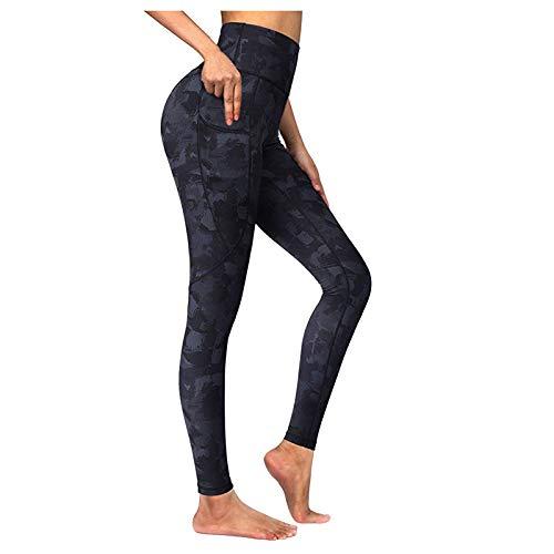 Soolike Mallas De Deporte De Mujer, Leggins Pantalon Deporte Yoga, Leggings Mujer Fitness Suaves Elásticos Cintura Alta para Reducir Vientre ,Pantalones De Yoga Transpirables Estampados