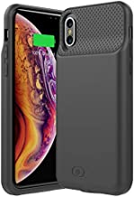 iPhone X/XS Battery Case GIN FOXI 5000mAh Portable Protective Wireless Charging iPhone X/XS Battery Charger Case Extended Power Battery Pack Charger Compatible with Apple iPhone X and iPhone Xs