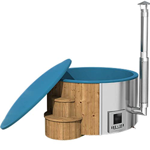 Serenedipity Bazar DeLux 200 Whirlpool / Hot Tub für den Außenbereich, Beheizung mit Brennholz, Innenauskleidung aus Kunststoff