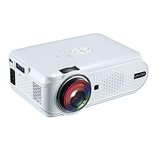 Proyector Mini proyector Cine en Casa Proyector Portátil UHappy U90 LED Proyector Mini Wireless Misma Pantalla De Uso Doméstico para Ocio Y Entretenimiento