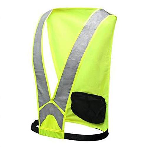 Cylficl Reflective Vest Damen Lauftrikot Herren Outdoor Sports Reiten und Laufen oder Marathon Ausrüstung mit Reflective High Visibility (Color : Green)