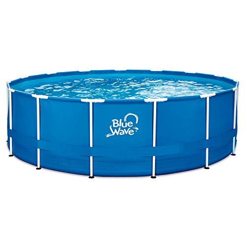 Blue Wave NB19791 18-ft Round 52-in Deep Active Frame Package Above Ground Swimming Pool with Cover, x