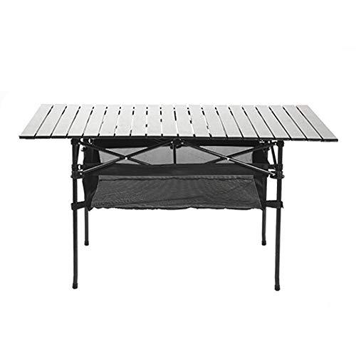 zxz Mesa de Camping portátil, mesas de Picnic Plegables con Bolsa de Transporte, Cubierta Antideslizante para pies con Junta de Remache Ajustable en Altura de aleación de Aluminio Resistente