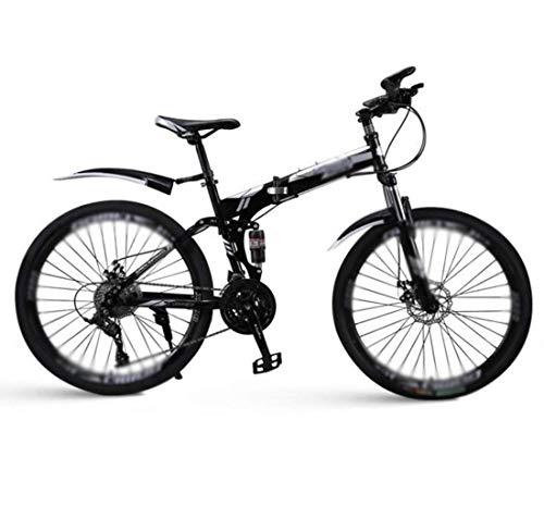 Bicicleta de montaña plegable, hombres y mujeres universal mini bicicletas, 26' 30 velocidades de velocidad variable bicicleta de montaña, Doble de absorción de choque de suspensión completa Estudiant