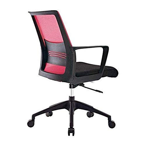 HMBB Sillas de escritorio, silla de oficina, silla de escritorio de malla con brazos abatibles y reposacabezas ajustable, respaldo alto giratorio para la oficina de la computadora (color: rojo)