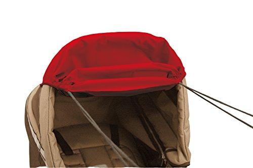 Asmi variable Sonnenmarkise Sonnensegel SunFun mit hohem UV Schutz (UPF 156) für alle Kinderwagen (Rot)