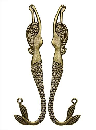 Penta Angel Mermaid Bookmarks 2 Pieces Vintage Metal Bookmarks for Women Men Adult Reading(Mermaid)
