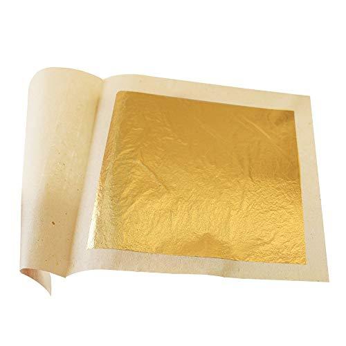 MarketKingStore Edible Gold Leaf Sheets 30 szt. M size 24 karatów 1,2 x 1,2 oryginalne arkusze do ciastek, ciasteczek i czekoladek, dekoracji, zdrowia i spa