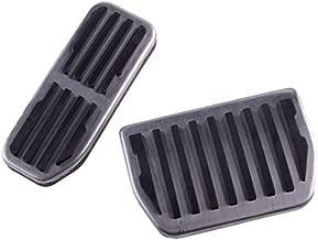 CITALL 2pcs Gas & Brake Foot Pad Pedal Cover Kit Fit for Land Rover Range Rover Evoque Velar Jaguar E F Pace XE XF