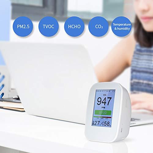 DZSF Multifunktionale Luftqualität Detektor Gasdetektor PM2.5 HCHO TVOC Tester CO2 Messinstrument-Monitor-Tester Für Smart Home,D9H