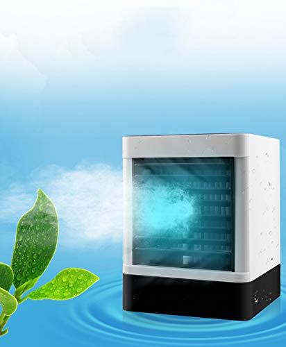 HALUM Air Cooler, Mini Portable Air Conditioner Fan Noiseless Evaporative Air Humidifier, Personal Space Air Conditioner, Mini Cooler, 3 Gear Speed, Office Cooler Humidifier & Purifier