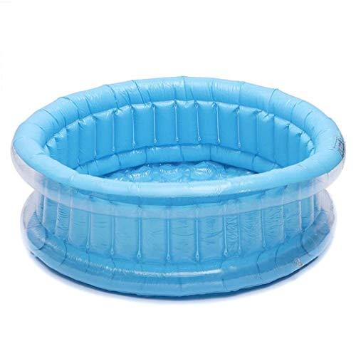 FLYFO Innen Schwimmbad, Baby Kinder Aufblasbar Runden Schwimmbad PVC Ozean Bällebad Badewanne Draussen Innen Wasser Spaß Spielen,Blau