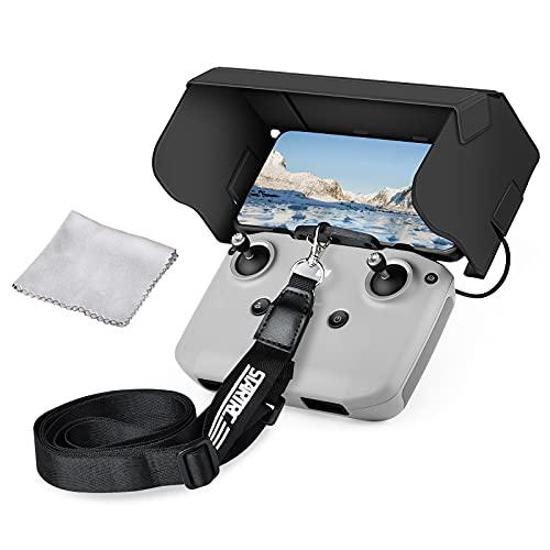 Vokida Sunshade - Juego de accesorios para DJI Mavic Mini 2 Air 2 mando a distancia, parasol, adaptador de gancho y protector solar para teléfono móvil