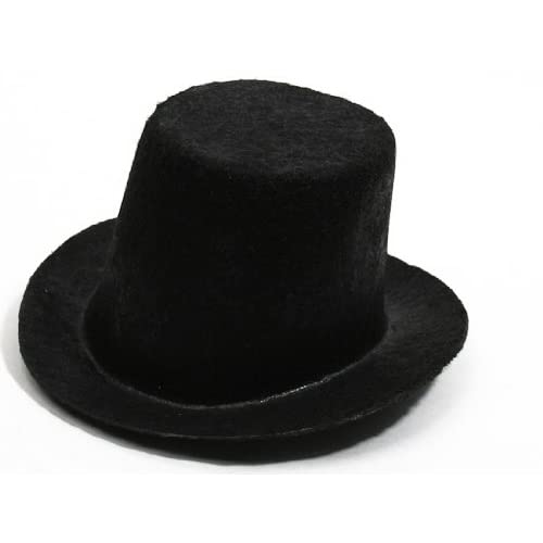 61a8ea69352 Amazon.com  Package of 6 Mini Black Felt Top Hats for Your Snowman ...