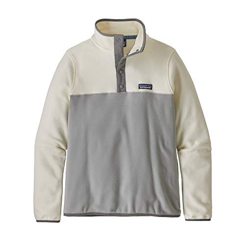 Patagonia Damen Sweatshirt W's Micro D Snap-t P/O S Drifter grau mit weißer Waschung