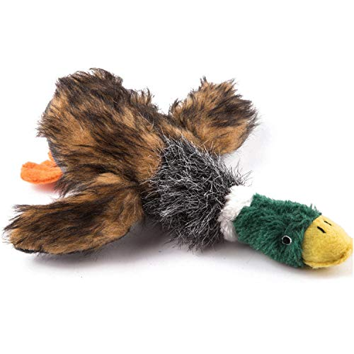 wangstar Pet Mallard Duck Dog Toy, Squeaky Dog Toy, Plush Puppy Dog Chew Toy for Small Medium Dogs (9'' Squeaky Duck)