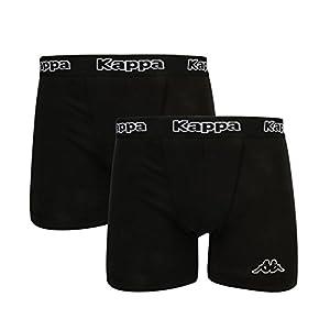 Kappa – Calzoncillos Tipo bóxer para Hombre (2 Unidades), Color Negro