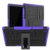 HoYiXi Funda para Lenovo Tab M10 Plus 10.3 Anti-Drop Estuche de Tableta Cubierta de Doble Protectora con Soporte Funcion Cover Case para Lenovo Tab M10 Plus 10.3 TB-X606F/TB-X606X - Violeta