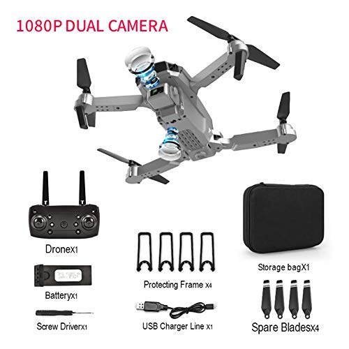 E100 GPS Drone with 1080P Dual Camera for Kids and Adults - Long Flight Time | F11 FPV Quadcopter with 4K Photo1080P Video