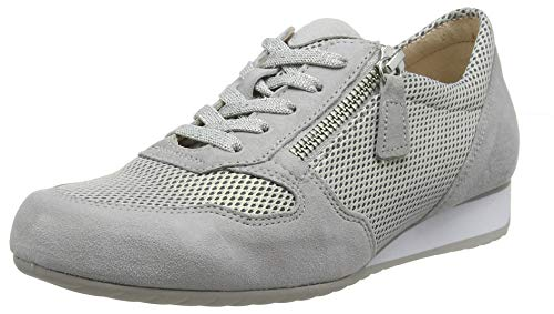 Gabor Shoes Damen Comfort Basic Sneaker, Grau (Light Grey 40), 38.5 EU