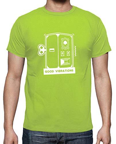 tostadora - T-Shirt Gute Schwingungen - Manner Pistazie L
