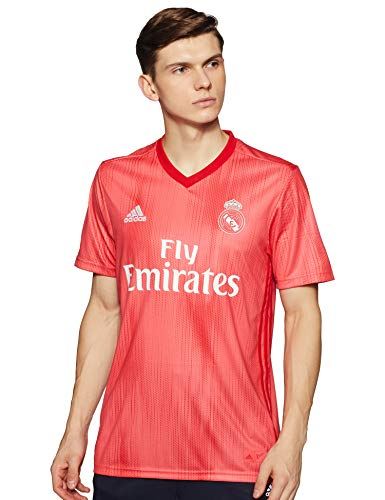 adidas Real Madrid Third – Camiseta de fútbol para Hombre, Color Real Coral, Vivid Red (Talla M)