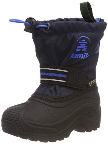 Kamik Unisex dziecięce buty zimowe Invade GTX, niebieski granatowy (Navy Nav), 28/29 EU