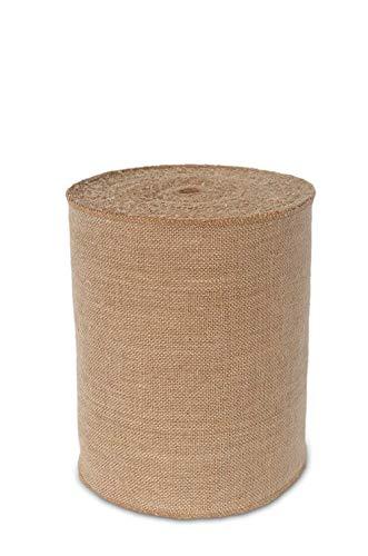 Rollo de arpillera de arpillera natural de 10 m de tela rústica de yute puro para hacer manualidades, bodas, fiestas (15 cm x 10 metros)