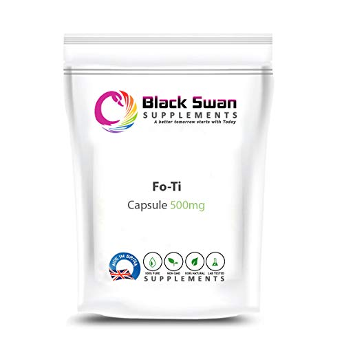 Black Swan Fo-Ti 500mg Capsule - Healthy and Glowing Skin and Immune System - for Vegetarians – Dietary Supplement (30 Caps)