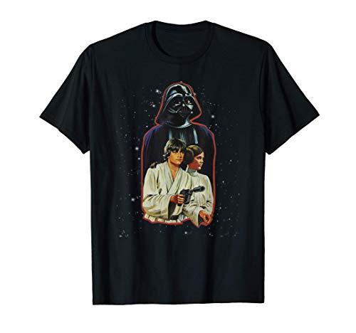 Star Wars Classic Luke Leia Darth Vader Illustration T-Shirt