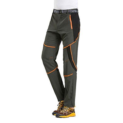 CIKRILAN Homme Respirant Quick Dry Élastique Longue Pantalon Fonctionnelle Outdoor Sport Pantalon de randonnée Escalade (Medium, Armée Verte)