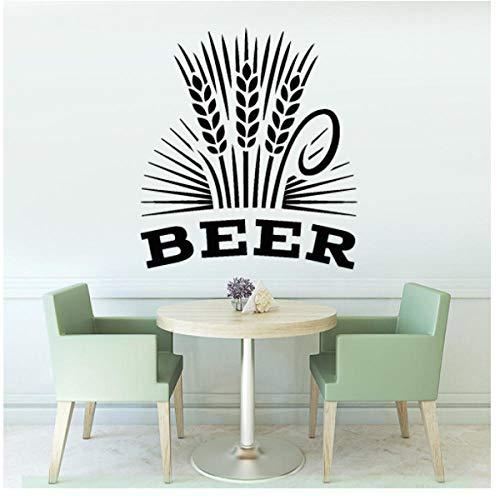 Alcohol drinken Pub Muurstickers bar bruidsmeisje bier schuim molen vinyl muurtattoos interieur modern huis decoratie 42x37cm