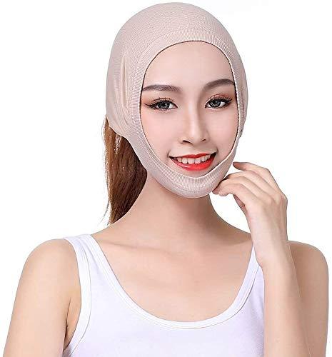 Ceinture de levage de visage Minceur Cheek Masque, V visage mince, levage Minceur Visage Masque Masques Bandages Bien-être Anti-stress Masques lisse respirant menton compression Neck Support Lift Sang