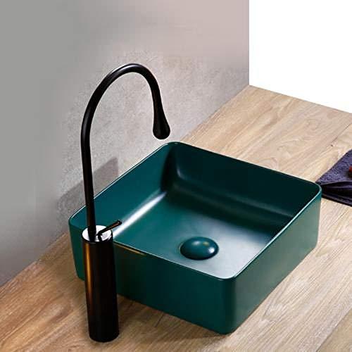 Hiwenr badkamer wastafels keramische schip kunst bos donker groen wastafel met keramische pop up afvoer verkocht huis zonder overloop gat