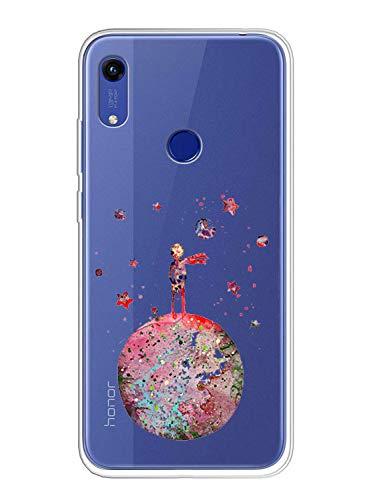 Oihxse Compatible pour Coque Huawei Nova 5T/Honor 20 Étui Liquid Crystal Ultra Mince Transparent TPU Silicone Housse Protection Bumper Souple Mignon Modèle Anti-Rayures Case(Petit Prince)