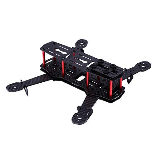 2Types FPV Drone Frame Kit Telaio quadricottero in Fibra di Carbonio 250MM con Bracci Telaio 3mm FPV per QAV250(Glass Fiber)