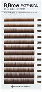 Blink B.Brow Lash Eyebrow Extension Color Brown Thickness 0.1 mm Length 5~8 Mix