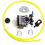 HQparts Carburetor & Fuel Line for Carburetor for Redmax String Trimmer BC200DL BC221DL BC225DL BC250 BC2000DL Carb