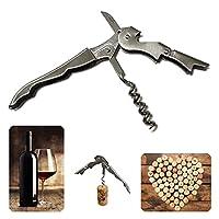 apribottiglie sommelier con lama per capsula, professionale cavatappi acciaio sughero vino, accessori, coltello tagliacapsule, utensili cameriere, cavatappi birra