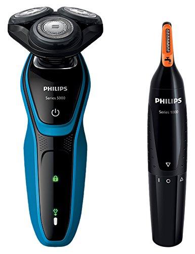 フィリップス メンズシェーバー 5000シリーズ S5050/05 + 鼻毛/耳毛カッター 本体丸洗い可 NT1152/10 セット