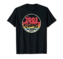 "Birthday gift t-shirt for people born in 2003. With a vintage, retro themed design this shirt will remain stylish for a long time to come. If you like this vintage 2003 t-shirt, click the brand name ""Pack A Punch"" to view more items in this style. We..."