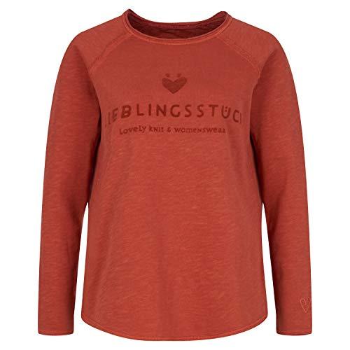 Lieblingsstück Sweatshirt 'Cathrina' aus Baumwolle braun (720 Mahagoni) M