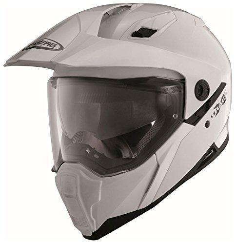 Caberg Herren XTRACE Motorradhelm, weiß, XL