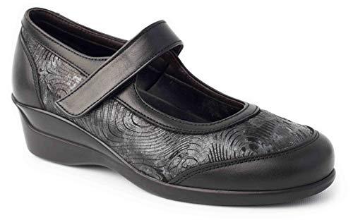 Calzafarma - Mod.14191 - Zapato de señora con Pala Elástica Ideal para juanetes y deformaciones, Aptos para Utilizar con Plantillas ortopédicas. (Numeric_37)