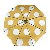 Set Dots - Paraguas plegable resistente al viento, resistente al agua, revestimiento de teflón, peso ligero, resistente al viento, compacto con cierre automático