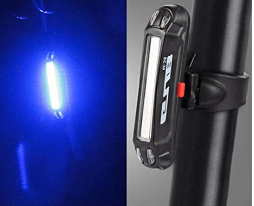STRIDCJX 2019 fiets, LED-licht, achterlicht, veiligheidswaarschuwing, fietszadel, draagbaar licht, oplaadbaar, blauw
