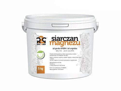 Ready to Grow Epsom Badesalz 5kg Eimer BIO Bittersalz Magnesiumsulfat Salz Salt
