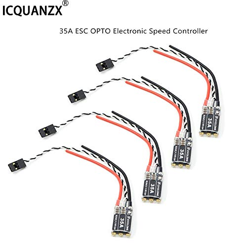 ICQUANZX 4pcs 35A ESC OPTO Electronic Speed Controller 2-6S Brushless for FPV Multicopter Quadcopter